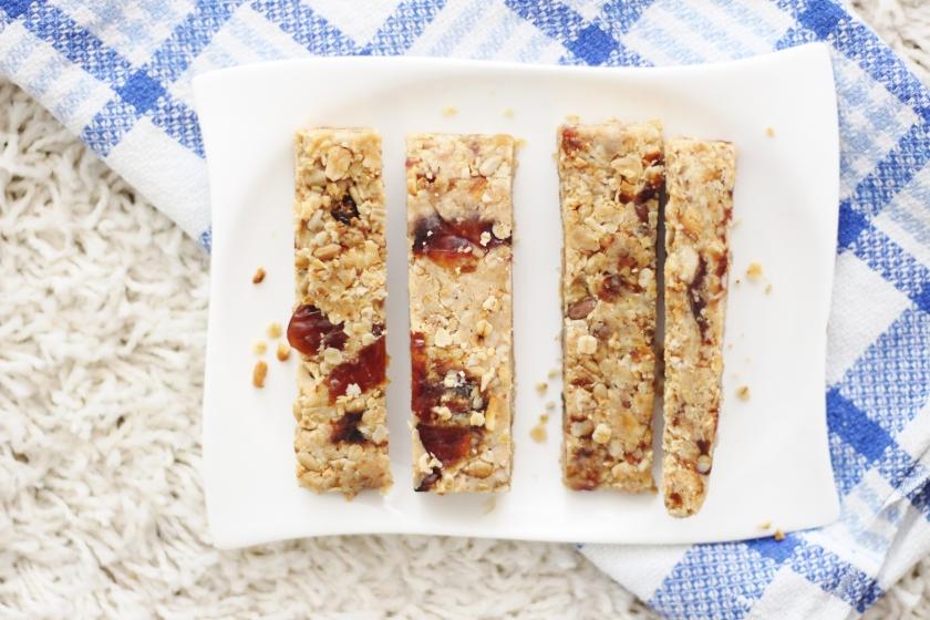 Bars Riegel Granula Müsli gesund vegan vanillaholica.com Granula Riegel Frühstück Rezept